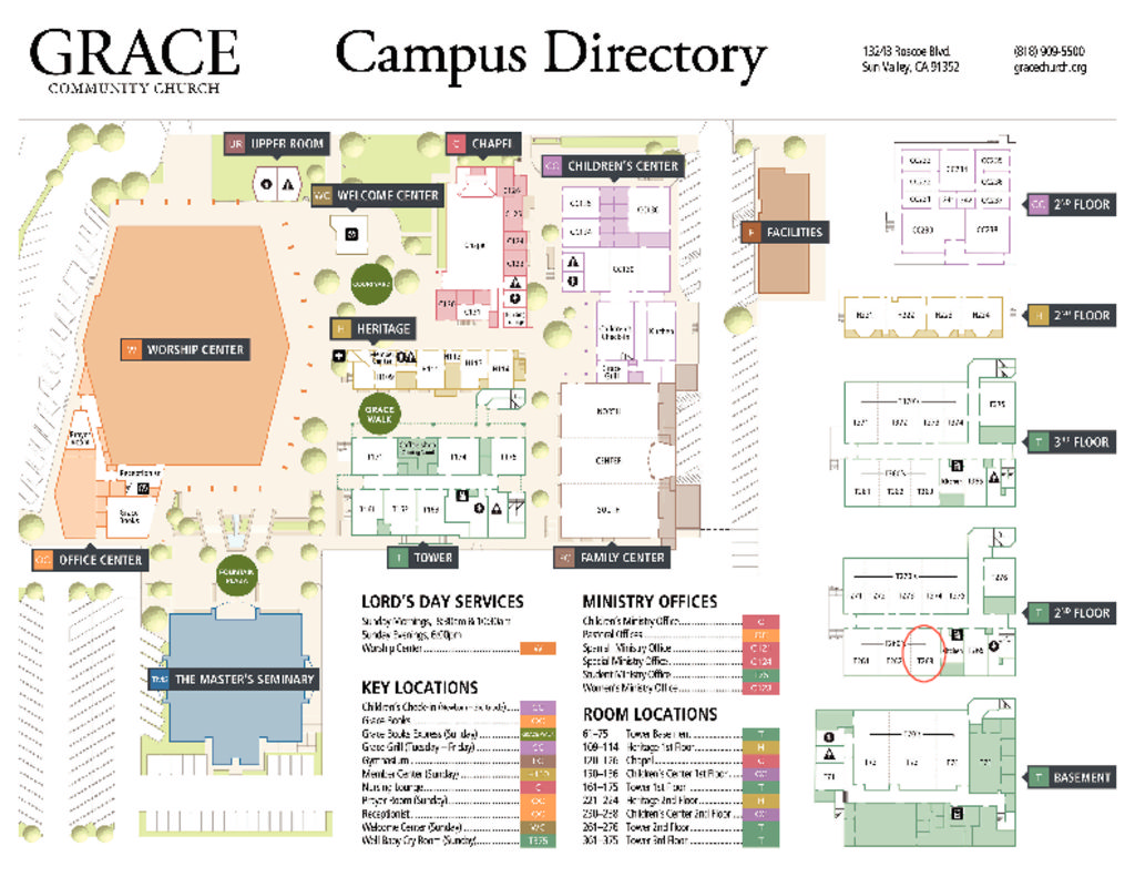 thumbnail of Grace Campus Map
