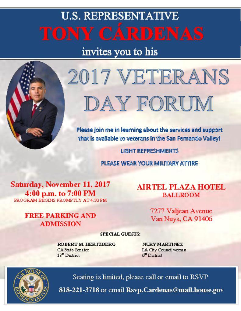 thumbnail of Veterans Day Forum