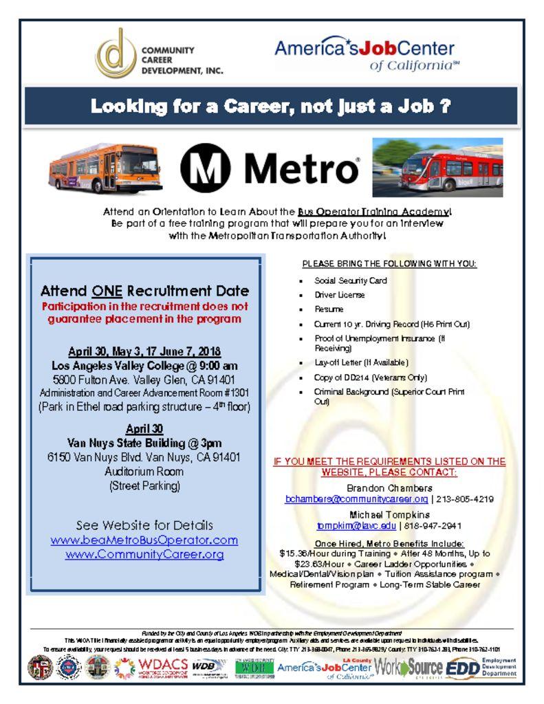 Metro Bus Operator Orientation – NoHowest org